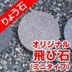 飛び石 小叩き仕上げミニタイプ 高級御影石 りょう石