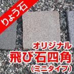 飛び石 四角ミニタイプ 高級御影石 りょう石