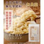 玄米ごはん レトルト エコパック 無農薬・無化学肥料 福井県産 特別栽培米 コシヒカリ使用 送料無料 200g×20袋 **お届けは1月になります**
