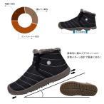 iKuma スノーブーツ 冬 カジュアル スノーシューズ ブーツ 防寒靴 レディース メンズ 防寒 防滑 ブラック 29.0cm