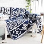 TMVOK カントリー風 マルチカバー 北欧 ソファー カバー おしゃれ 毛布 綿製品のブランケット ベッド テーブルカバー テーブル掛け枚