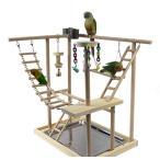 KAMA BRIDAL 鳥遊び場 インコ ハムスター カゴ ケージ スタンド はしご 遊園地 秋千 食器 水器 ラダー ベル アクリル 噛む