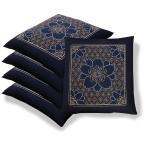 日本製 座布団カバー 55×59 銘仙判 和柄 ざぶとんカバー 綿100% 5枚以上で送料半額 10枚以上で送料無料