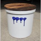 久松窯 漬物容器 切立5号(9.0リットル)SB 胴 (焼杉蓋付) 梅干し、味噌作り用。