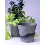 植木鉢 陶器 ロックガーデン ダークシルバー 6号 三河焼