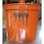 久松窯 漬物容器 おふくろ 9.0リットル 切立5号蓋付 梅干し、味噌作り用
