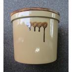 久松窯 漬物容器 おふくろ 9.0リットル アイボリー 焼杉蓋付 梅干し、味噌作り用