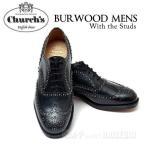 チャーチ Church's メンズ ウィングチップ レザー シューズ BURWOOD 2S BLACK バーウッドスタッズ 革靴 レザーソール【送料無料】