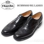 チャーチ Church's レディース レザーシューズ BURWOOD LADIES WG バーウッド BLACK チャーチ ラバーソール 革靴 8705【送料無料】