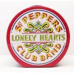 ビートルズ The Beatles  丸型/LONLY HEARTS TIN缶BOX ランチバッグ ブリキ缶バッグ