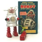 ◎ピストンアクション ロボット Piston Action Robot  【シルバー】 ブリキ