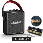 《Marshall ロゴ入りキーハンガープレゼント》Marshall マーシャル ワイヤレス スピーカー STOCKWELL 2 ブラック《国内正規品》