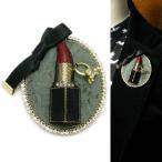 ブローチ パール 口紅 リップ 指輪 リボン オケージョン コサージュ 真珠 KS45004