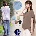 モモンガBIGTシャツ レディース トップス バックデザイン 半袖 tシャツ カットソー (郵3)  ポイント消化