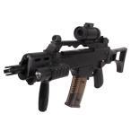 RSBOX 予備マガジン付き1-1スケール高性能アサルトライフル G36C電動ガン、ドットサイト搭載モデル M85エアガン