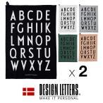 Classic Tea Towel クラシック ティータオル by DESIGN LETTERS デザインレターズ 同色2枚組 40×60cm