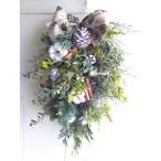 クリスマススワッグ クリスマスリース 玄関クリスマススワッグ 35cm クリスマス生リース 手作りクリスマススワッグ
