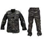 BWOLF 迷彩服 戦闘服 上下セット アーミーコンバットユニフォーム MultiCam Black マルチカムブラック迷彩