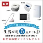 5D新生活家電セット一式[typeD](冷凍冷蔵庫・