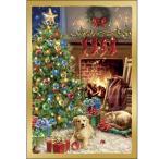 猫と犬のクリスマスカード ドナ・ゲルシンガー コジー・クリスマス