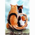 猫のアニバーサリーカード ジョン・ランド しっぽでハート