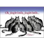 クリバンキャット 猫のクリスマスカード ジングルベル
