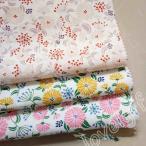 花柄 綿素材 1mカット売り DIY 衣料