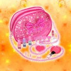 ショッピングネイル キッズコスメ キューティーハート クラッシーメイクバッグ お化粧 子供用化粧品セット メイクセット キッズ RACE(レイス)
