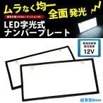 字光式ナンバープレート LED 前後2枚 全面発光 12V 普通車 軽自動車