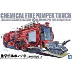 1/72ワーキングビークル 1 化学消防ポンプ車(大阪市消防局 C6) アオシマ プラモデル