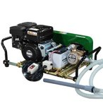 ミナト 1インチ バキュームポンプセット 《ロビン4馬力セル付エンジン+電磁クラッチ+10m遠隔スイッチ付》 (食品廃液・汚水)