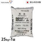 トクヤマ 融雪剤 塩化カルシウム 25kg (保管しやすい米袋入り) [道路の凍結防止剤 除湿剤 防塵剤 塩カル][r10][s1-120]