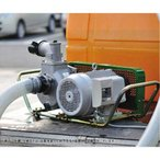 ミナト 3インチ ベルト掛けポンプセット 《三相200V7.5馬力モーター+サクションホース4m付》 [大水量型 高揚程型 散水ポンプ 灌水ポンプ][r12][s4-060]