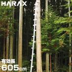 ハラックス 枝打ち梯子 ワンダ WR-60 (有効長605cm) [ハシゴ はしご][r20][s9-910]