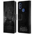 Head Case Designs Officially Licensed HBO Game of Thrones Iron Throne Key Art Leather Book Wallet Case Cover Compatible With Xiaomi Mi Mix 3