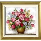 これ素敵っ クロスステッチ 刺繍キット 大判 バラの花瓶 L304 【送料無料】lvt-304