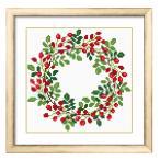 これ素敵っ クロスステッチ 刺繍 キット Flower Wreath L325 (送料無料)lvt-325
