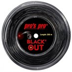 pros pro BLACK OUT  200mロールガット ポリエステルガット 硬式テニスガット プロズプロ ブラックアウト