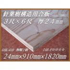 【GSK-418】 針葉樹構造用合板 厚24mm×幅910mm×長1820mm F☆☆☆☆