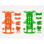 TAMIYA 95355 VS 蛍光カラーシャーシセット(オレンジ・グリーン)