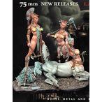 オリンパスの戦争 ビネット(フィギュア3体。ベース付)  Olimpus at war (Three figures plus base)  75mm[AS7556]