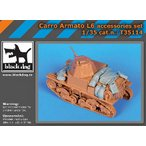 イタリア軍 L6/40軽戦車 アクセサリーセット(イタレリ用) Carro Armato L6 accessories set for Italeri 1/35