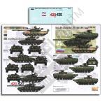現用ロシア軍 チェチェン戦争のAFV(T-72B1戦車/T-80BV戦車/BMP-2歩兵戦闘車) デカール Russian AFVs in Chechen War: T-72B1,T-80BV & BMP-2  1/35