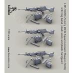 現用アメリカ軍 M249軽機関銃(分隊支援火器/SAW) 長銃身・プラスチック製銃床&プラスチック製ハンドガード付き M249 Squad Automatic Weapon 1/35