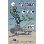 現用アメリカ空軍 ジェット機パイロット(対応機種:F-4/F-5/F-15/F-16/A-7/A-10ほか)(ヘッド4種、腕2対入り)   U.S. Air Force Jet Pilot   1/32