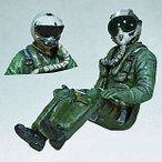 現用アメリカ軍 F-16戦闘機 シートに座るパイロット(HGU/JMHCSヘルメット選択式) F-16 Pilot seated in a/c  1/32