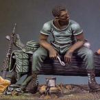 現用アメリカ軍 黒人兵(ベトナム戦争 1970年)  Black G.I. (Vietnam 1970)  1/32