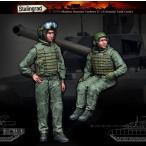 現用ロシア軍 最新式6B48戦闘服着用の戦車兵(2体入。T-14アルマータ戦車用)  Modern Russian Tankers Newest 6B48 suit. For T-14 Armata tank  1/35