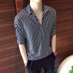 シャツ メンズ カジュアル 七分袖 大きいサイズ おしゃれ 半袖