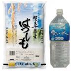 米 お米 白米 5kg ハツシモ 岐阜県産 平成30年産 + 養老山麓優しい水2L 送料無料